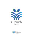 elegant grow leaf or flower logo icon design with vector image