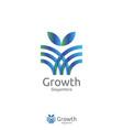 elegant grow leaf or flower logo icon design with vector image
