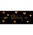 Gold textured Happy Valentines day inscription vector image
