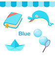 isolated color blue group vector image