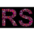 letter r s valentine alphabet vector image