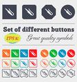 plug mini jack icon sign Big set of colorful vector image
