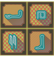 Seamless background with Egyptian hieroglyphs vector image