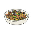 vintage of stir fry chicken vector image