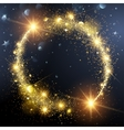 Christmas background with Gold Star vector image vector image