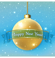 Happe New Year Christmas bauble vector image vector image