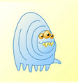 funny cartoon monster millipede goes vector image