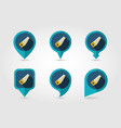 hand saw flat pin map icon vector image