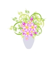 Abstract flowers in vase vector image