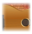acoustic guitar close-up lighting vector image