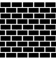 Black brick wall seamless pattern Simple building vector image