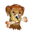 enamored dog vector image