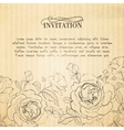 Invitation card with roses vector image