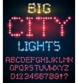 Light font set vector image
