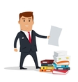Man Character With Paper vector image