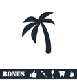 Palm icon flat vector image