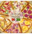 Pizza blurred background vector image