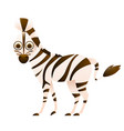 zebra cute cartoon character vector image