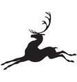 deer jumps vector image vector image