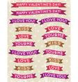 A set of valentines design vector image
