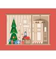 Christmas tree interior vector image vector image