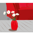 vase of flower vector image