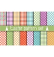 Easter Geometric Patterns vector image