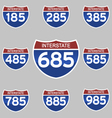 INTERSTATE SIGNS 185-985 vector image