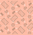 biscuit pink seamless pattern vector image