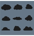 clouds collection Black vector image