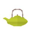colored flat asian teapot vector image