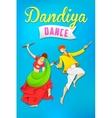 Man and woman playing dandiya dancing Garba vector image
