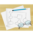 Planning Flow Chart paper vector image