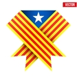 Ribbon of independence Catalonia vector image