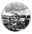 The official seal of the us state of kansas in vector image