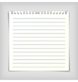 Note paper sheet with lines vector image