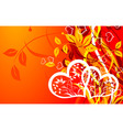 valentines floral background vector vector image vector image