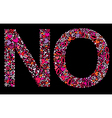 letter n o valentine alphabet vector image vector image