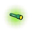 Flashlight icon comics style vector image