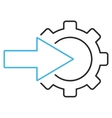 Cog Integration Outline Icon vector image