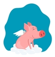 a pig with wings vector image