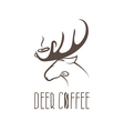 deer coffee negative space concept design template vector image