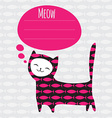 greeting card with cat vector image