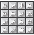 Set of flat icons for mobile app and web with long vector image