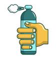 spray gas icon cartoon style vector image