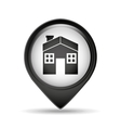 symbol house pin map icon design vector image