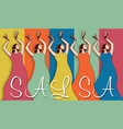 Woman salsa dancers vector image