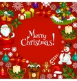 Christmas holidays greeting poster or card design vector image vector image