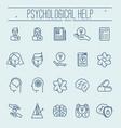 set symbols of psychological help vector image