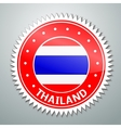 Thai flag label vector image vector image